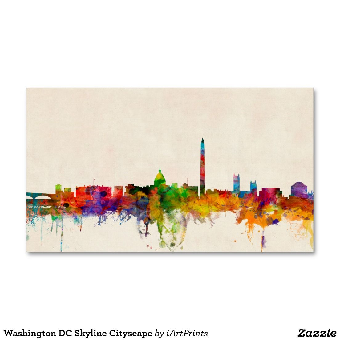 Washington dc skyline cityscape business card washington dc washington dc skyline cityscape pack of standard business cards magicingreecefo Images