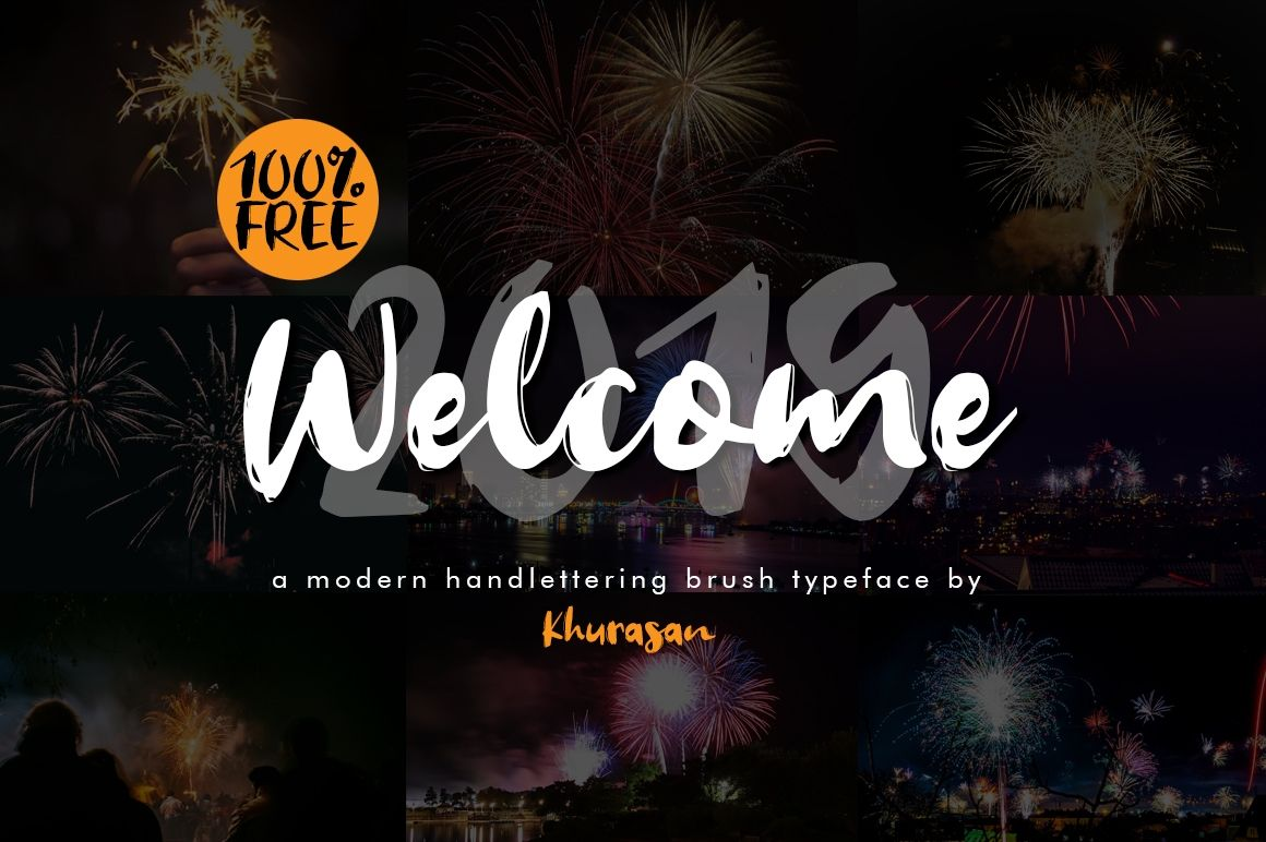 Welcome 2019 Handwriting Fontplanet Brush Font Best Free