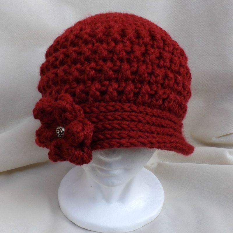 tricoter un bonnet cloche femme