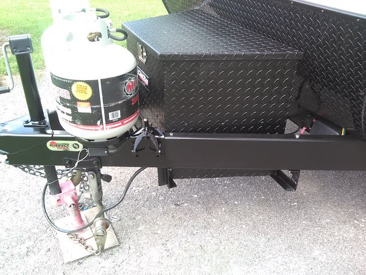 Add A Storage Box To Your Trailer S A Frame Tongue Rv Trailers