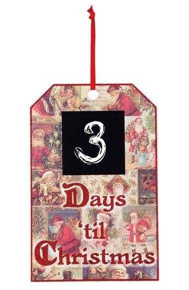 PRIMITIVES BY KATHY Vintage Santas Countdown Wall Art available at #Nordstrom