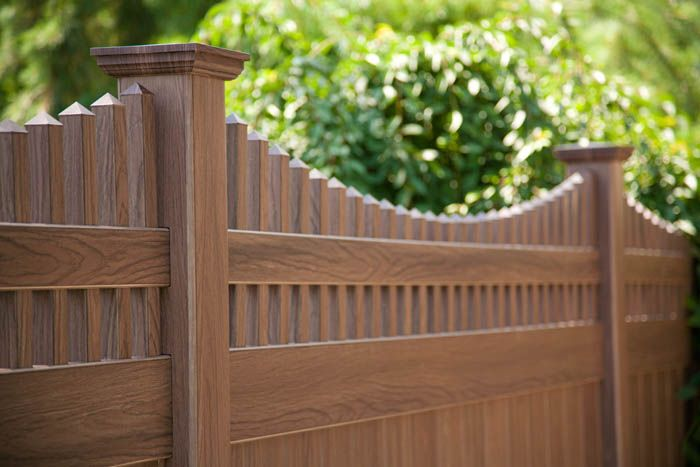 Brown Vinyl Privacy Fence vinyl fencing colors | color vinyl fence and woodgrain vinyl fence