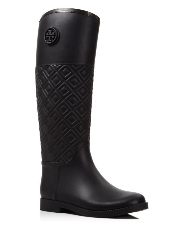 716bb464845770 Tory Burch Marion Quilted Rain Boots