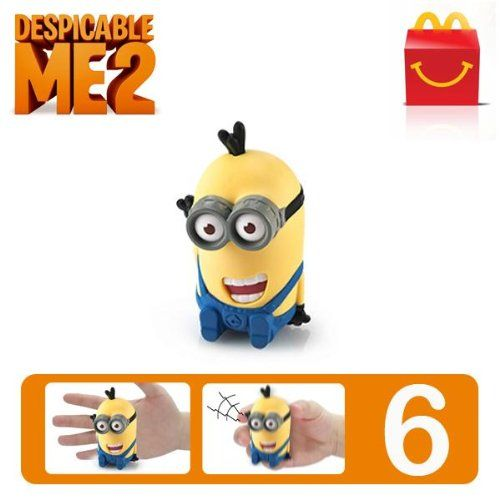 Despicable Me 2 #6 McDonalds Happy Meal Toy Minion - Tim Giggling [Hard-to-Find Collectible Toy] (Nu @ niftywarehouse.com #NiftyWarehouse #DespicableMe #Movie #Minions #Movies #Minion #Animated #Kids