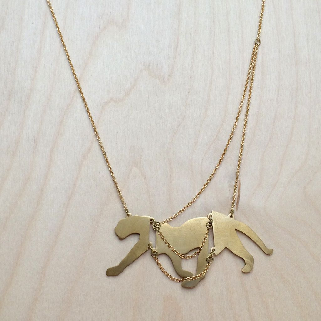 Cougar Brass Necklace