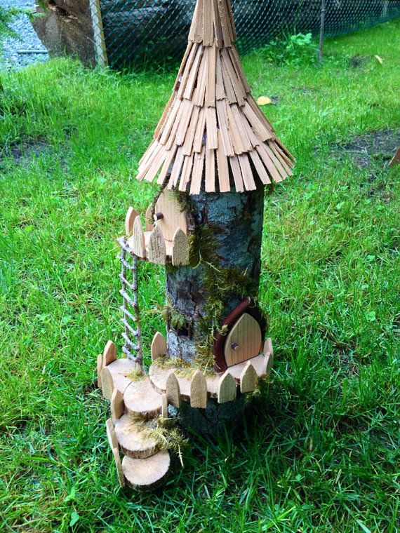 Fairy garden Wizards Tower by DriftwoodinQB on Etsy,