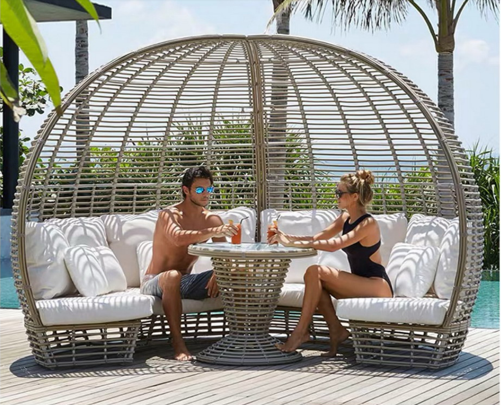 Pin By Amy Shen On Hwjj户外家具 Outdoor Daybed Pool Furniture Luxury Modern Furniture