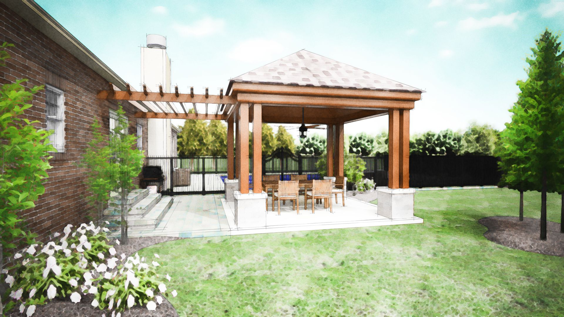 Covered Patio Design Pictures | Covered Patio Company Dayton   Patio Cover  Designs Columbus, OH | Two ... | Need It Now | Pinterest | Covered Patio  Design, ...