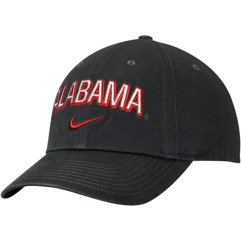 adf5cf8c202c6 Alabama Crimson Tide Nike Heritage 86 Wordmark Adjustable Hat – Anthracite
