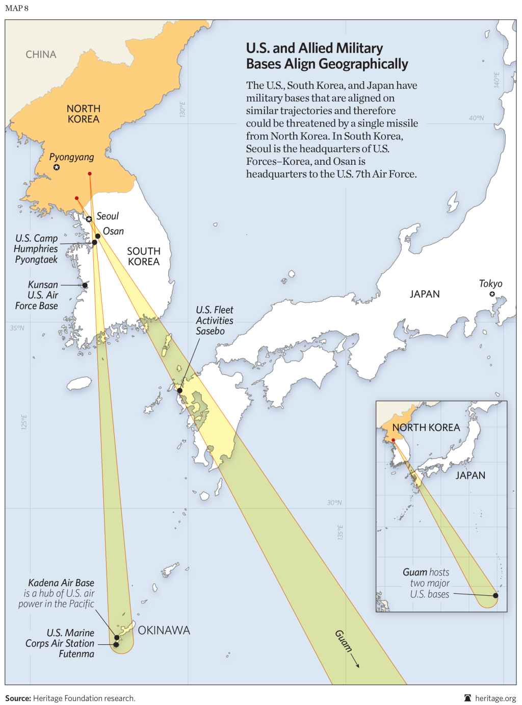 U.S., South Korean, and Japanese Bases are Within Range of ...