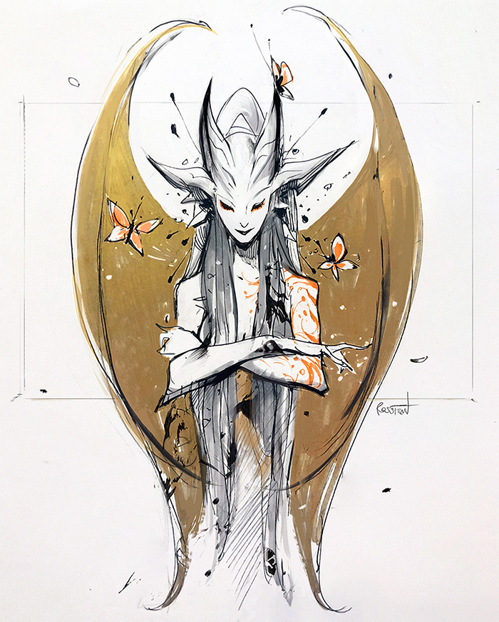 Photo of Inktober: Dryad by rossdraws on DeviantArt