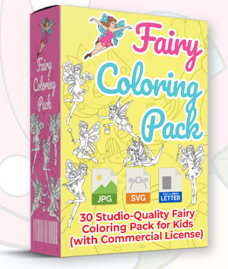 Fairy Coloring Pack Plr Review Publish Your Own Children S Coloring Books With Studio Quality Coloring Pack Fairy Coloring Fairy Coloring Book Coloring Books