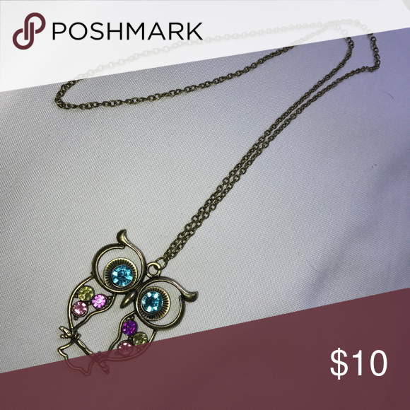Owl Necklace Unused. Rustic color. Jewelry Necklaces