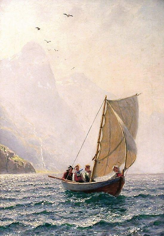 Hans Dahl (1849–1937): Gemyttlig tur | Norwegian Art 5 in ...