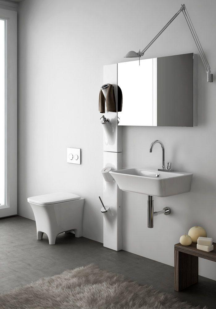 Accessori bagno  Porta scopino Sotto Sopra da Artceram    design  arredo   bagnoaccessori  bagno in acciaio e corian   Gli accessori   Pinterest  . Porta Bathroom Fittings. Home Design Ideas