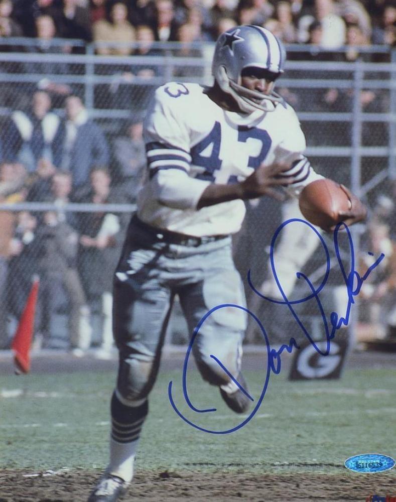 Don perkins dallas cowboys signed autographed 8x10 photo w