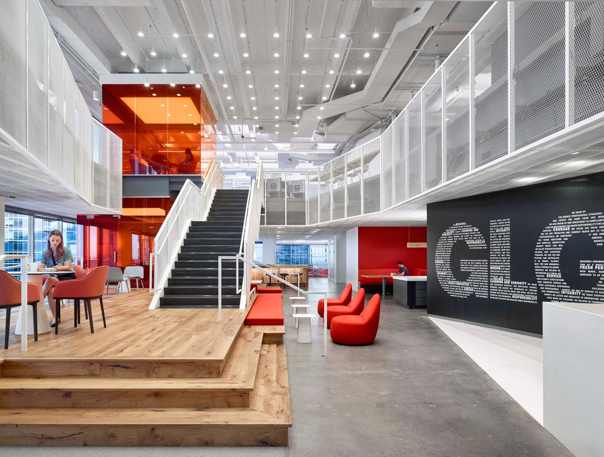 Working Together New Office Designs Inspire Collaboration Creativity Read M Corporate Interior Design Best Interior Design Websites Corporate Office Design