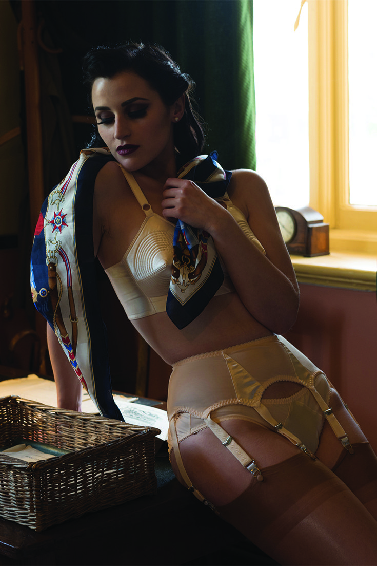 83ab447d40afe The beautiful Audrey Hipturn for What Katie Did at Brooklands Museum in our  Padded Bullet Bra