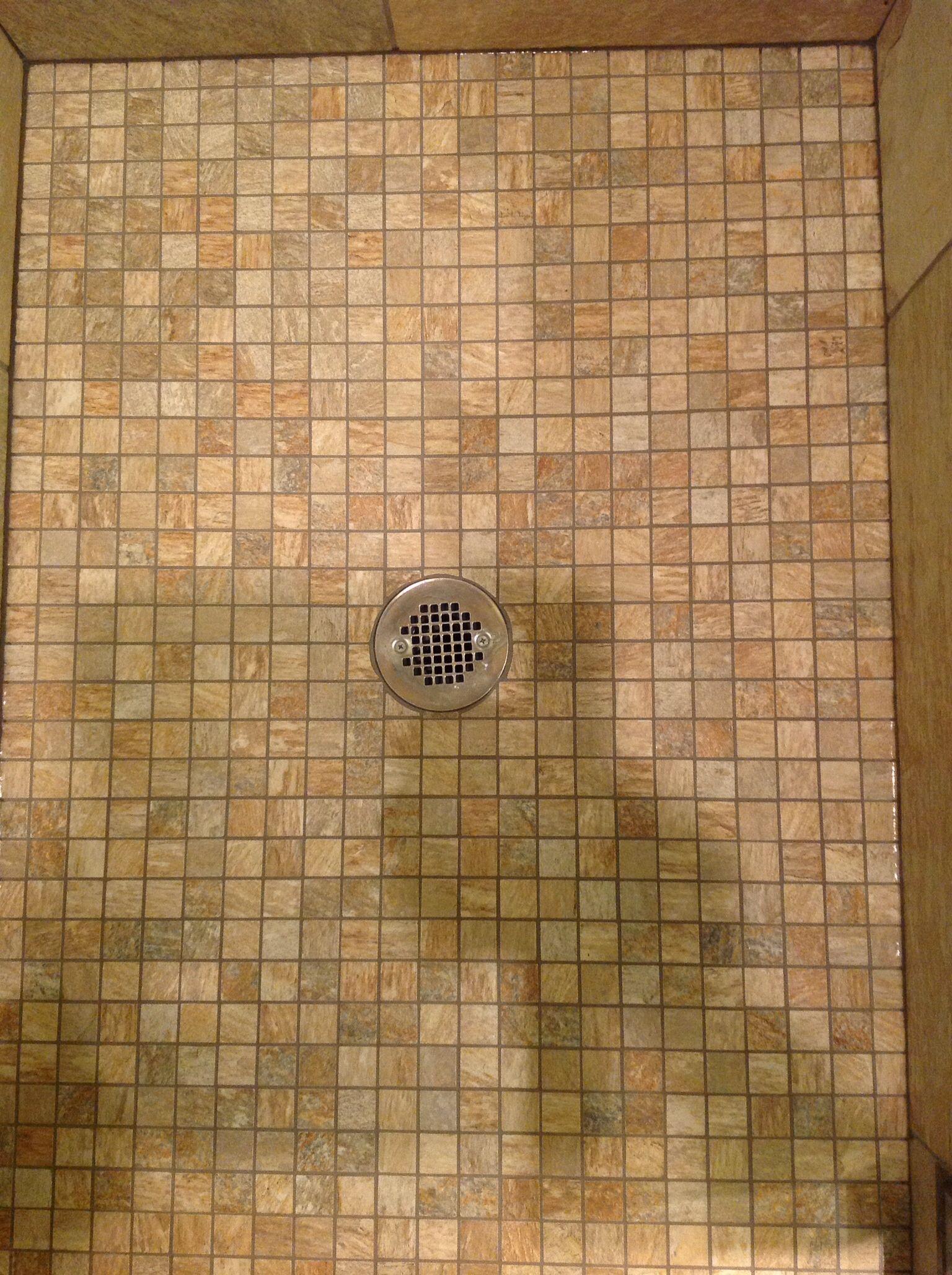 Non Slip Tiles On The Shower Floor Shower Floor Bathroom Renos Walk In Shower