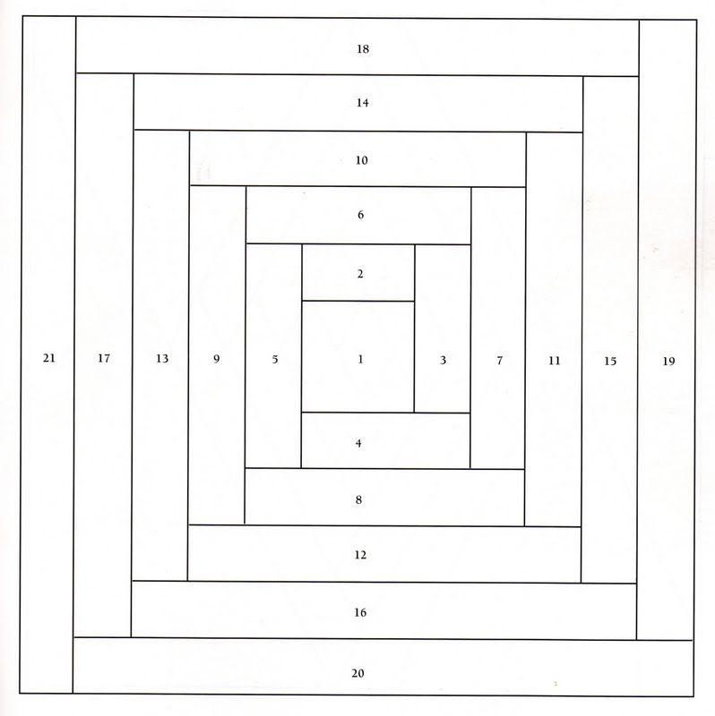 Paper Piecing Quilt Patterns Log Cabin : paper piecing log cabin patterns ... - Projetos: Blocos de Log Cabin em foundation (ou paper ...
