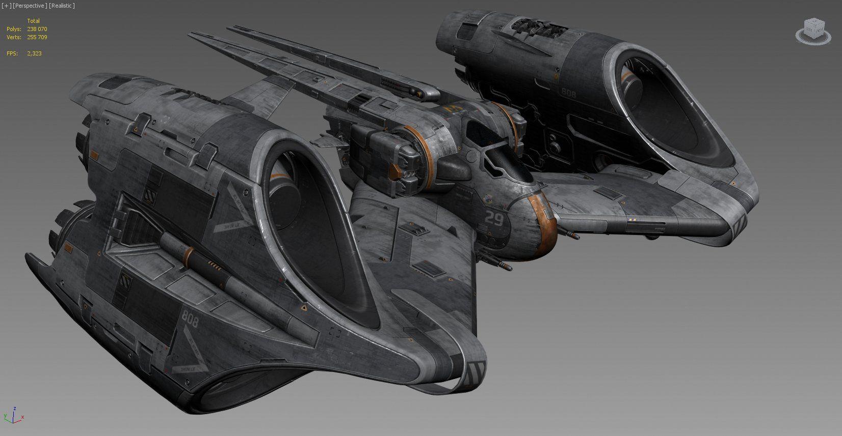 artstation flea space fighter vitaliy vostokov