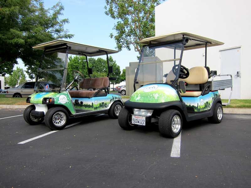 Custom Design And Wraps By Iconography For Espn Golf Carts Golf Cart Graphics Golf Buggy