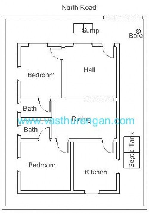 Vastu for north facing house layout North Facing House Plan 8 ...