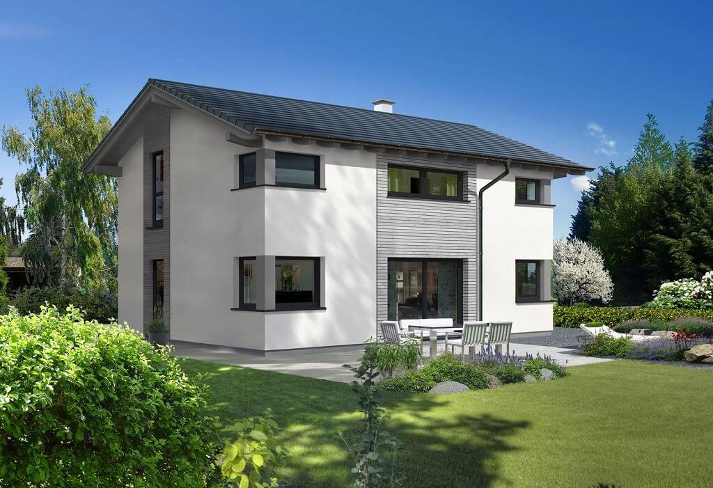 Fenster außenansicht haus  Classic 139 S - Baufritz - http://www.hausbaudirekt.de/haus ...