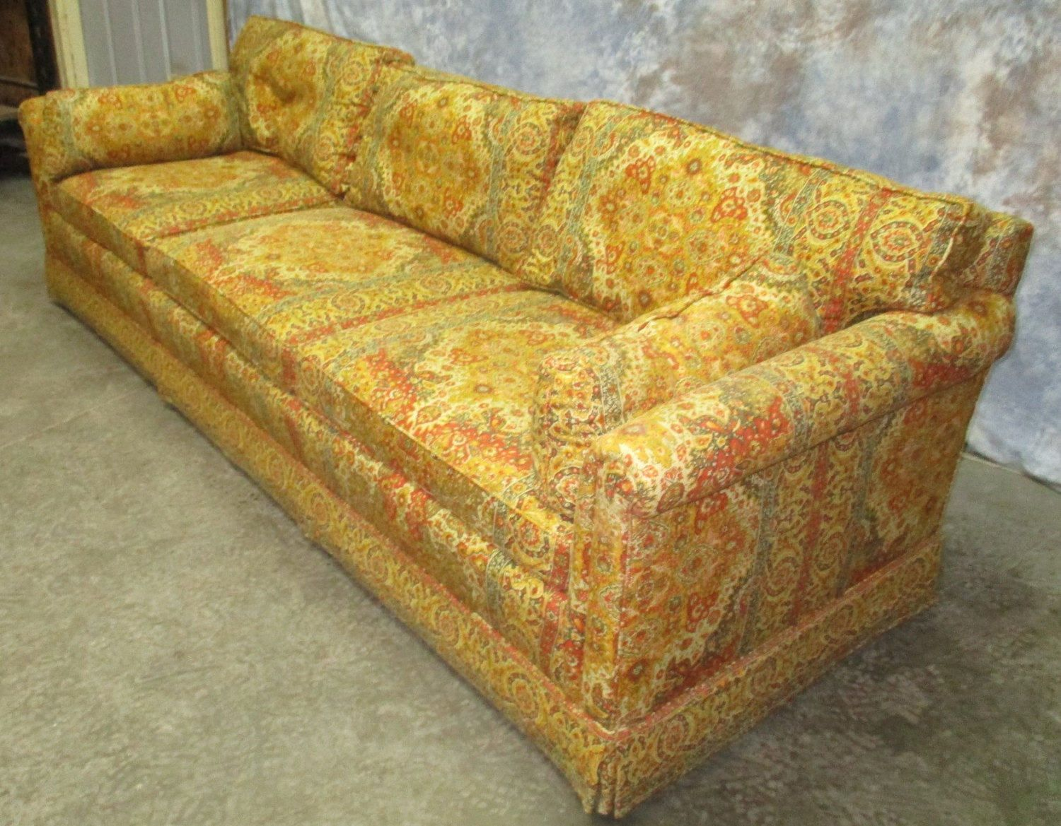 Your Place To Buy And Sell All Things Handmade Vintage Sofa Danish Modern Furniture Retro Fabric