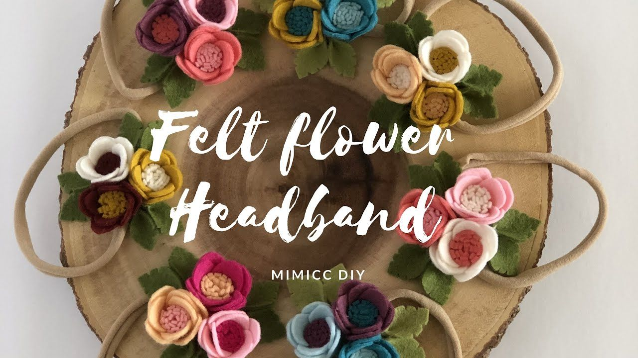 DIY:: Easy Felt Flower Headband #babyheadbandtutorial