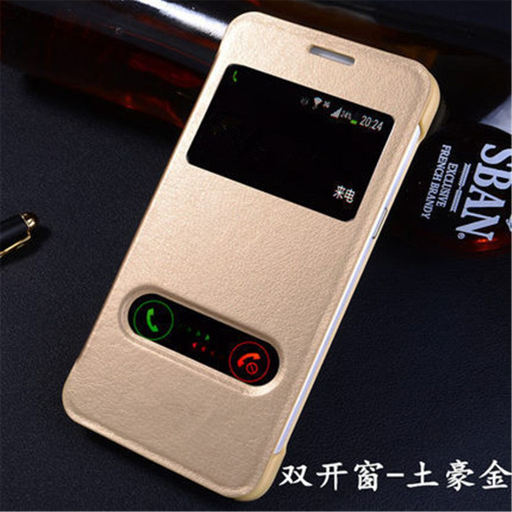 Do Samsung Galaxy Grand Prime G530h G531h Auto Uspienia Zobacz Okno Klapka Pu Leather Telefon Przypadki Capa Fund Leather Phone Case Phone Electronics Workshop