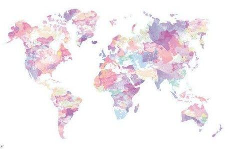 mapa mundi pinterest - Cerca con Google