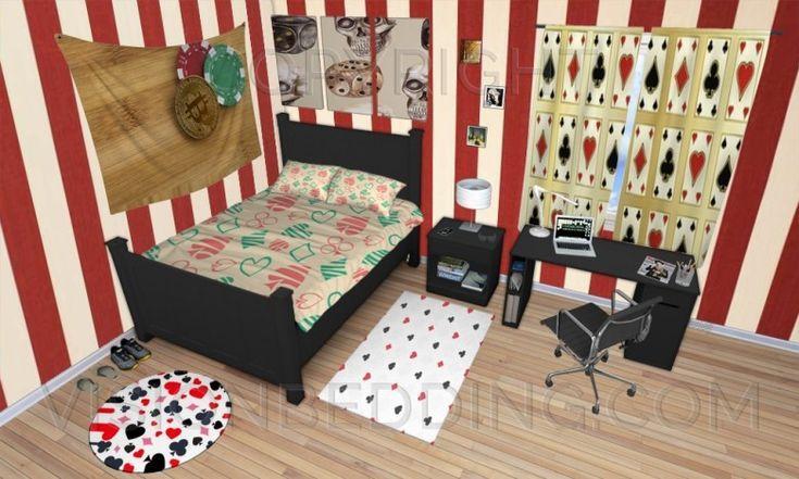 gambling casino themed bedroom #gamblingbedroomdecorideas