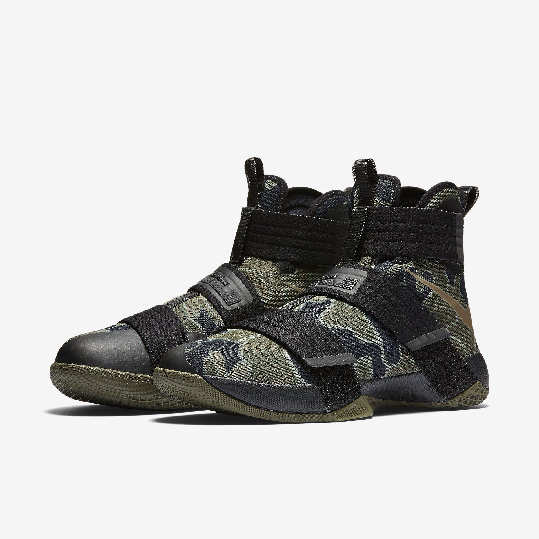 a4888b8cb015 Nike LeBron Zoom Soldier 10 SFG - Black Medium Olive Bamboo