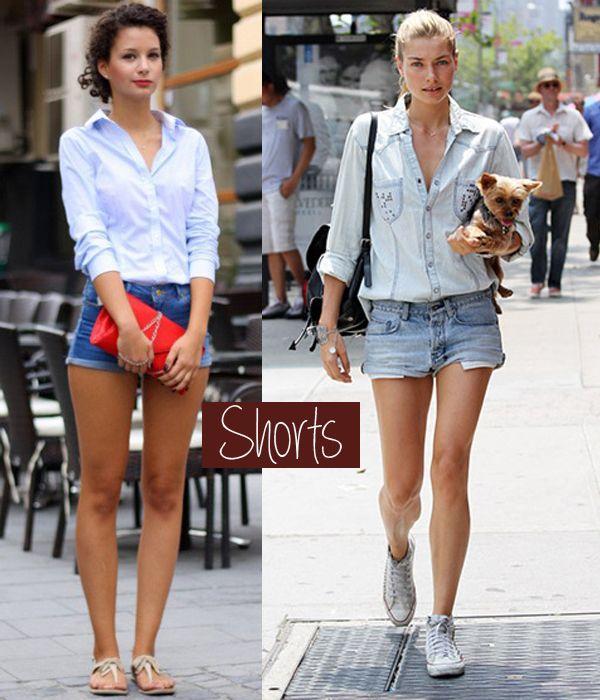 Camisa Jeans - Com shorts #comousar #fashionblog