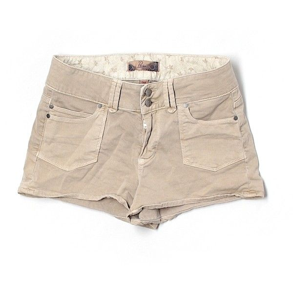 Pre-owned Paige  Shorts ($19) ❤ liked on Polyvore featuring shorts, beige, paige denim, paige denim shorts and beige shorts