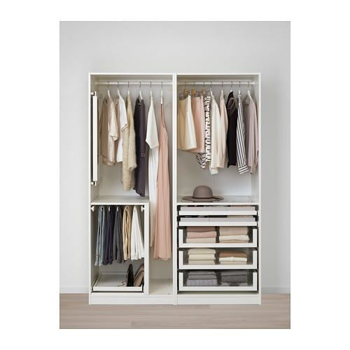 23d71f304 PAX Wardrobe, white, Hasvik white in 2019 | Ideas for the House ...