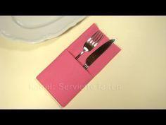 Servietten falten: Einfache Bestecktasche falten -Tisch decken originell – YouTube,Yvo nne #serviettenfalteneinfach