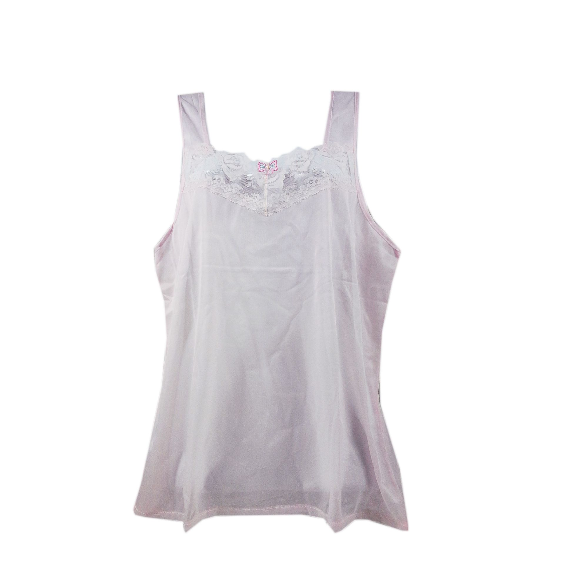10c10c9cc56ff BOS05 Pink Silky New Nylon Blouse Lace Camisole Tank Top Women