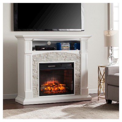 Salski Infrared Electric Fireplace, White   Products   Media