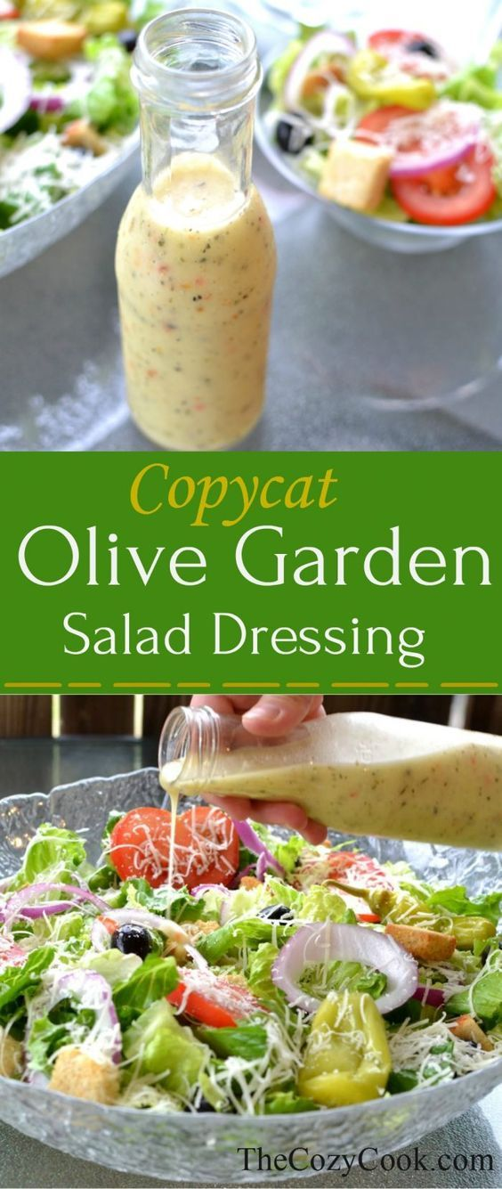 Copycat Olive Garden Salad Dressing   Recipe   Olive garden salad ...