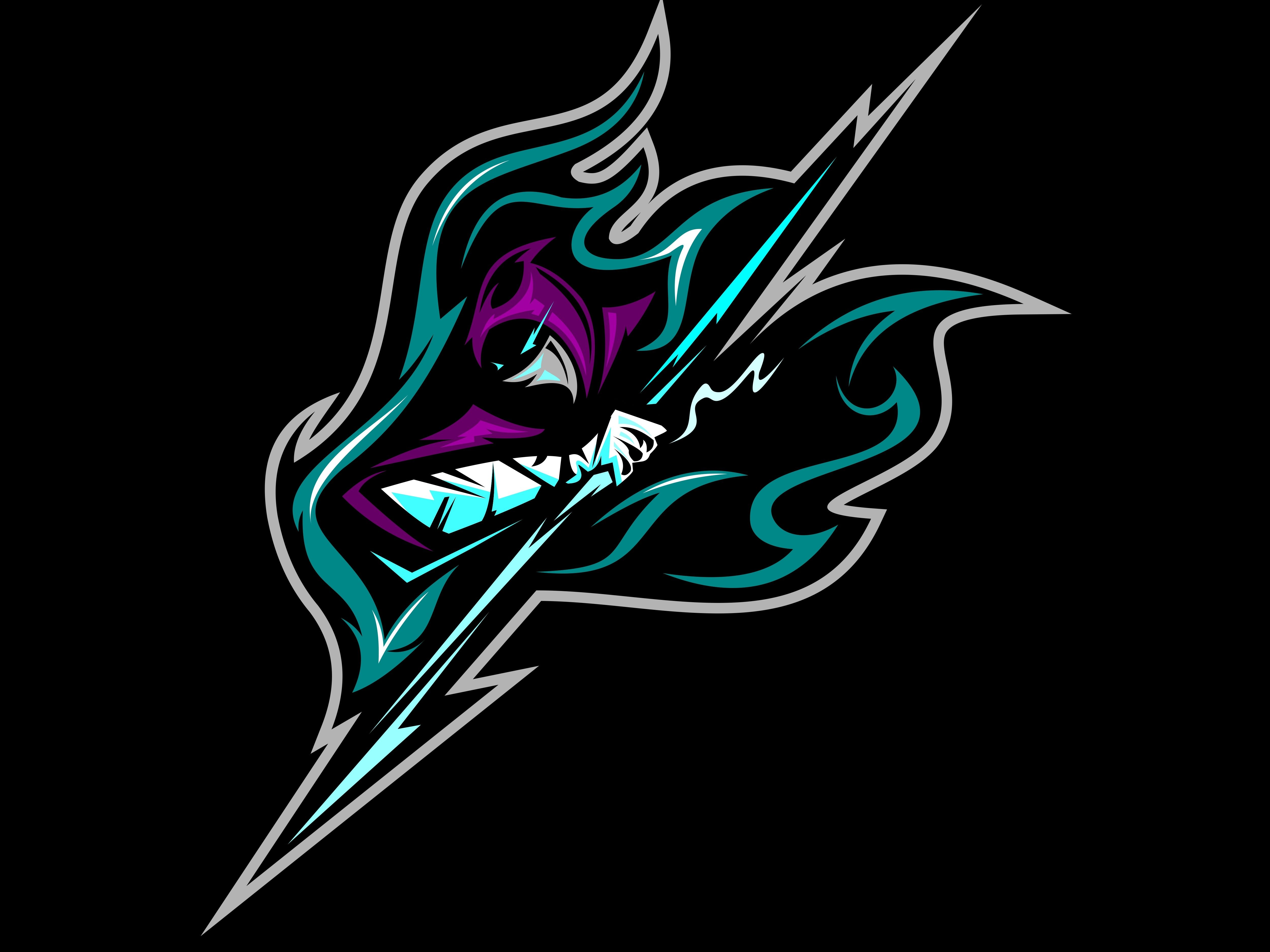 Ninja Thunder Game logo design, Game logo, Esports logo