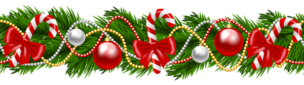 Christmas Pine Deco Garland Png Clipart Image Christmas Garland Tree Garland Christmas Decora