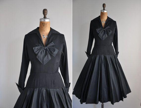 cool black vintage dress