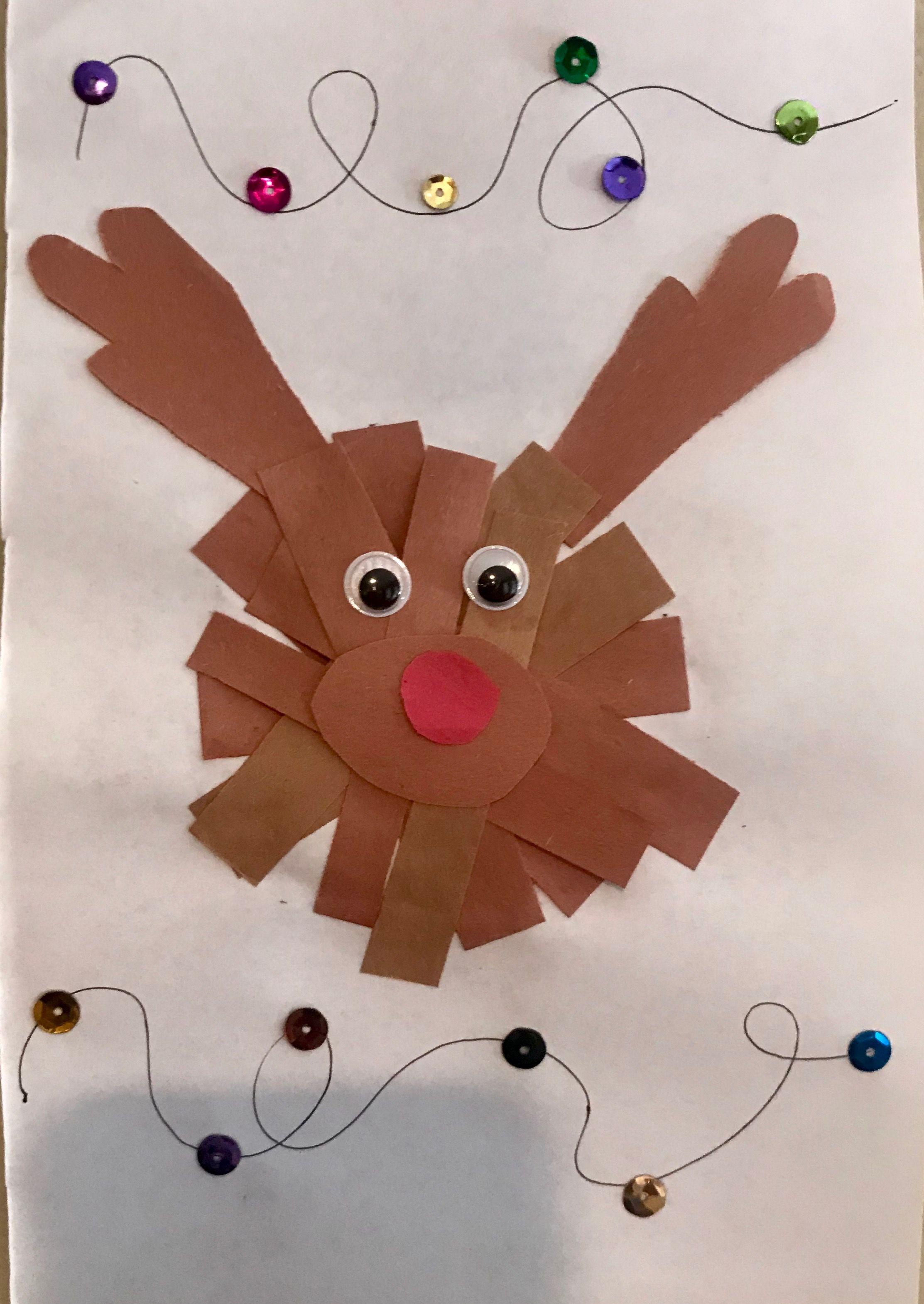 Christmas Craft Toddler Christmas Reindeer Craft