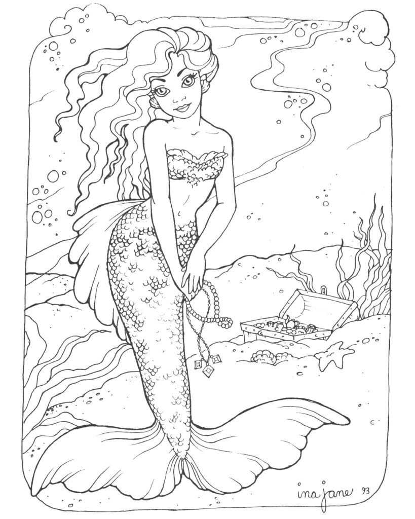 Coloring Pages Mermaids H2O