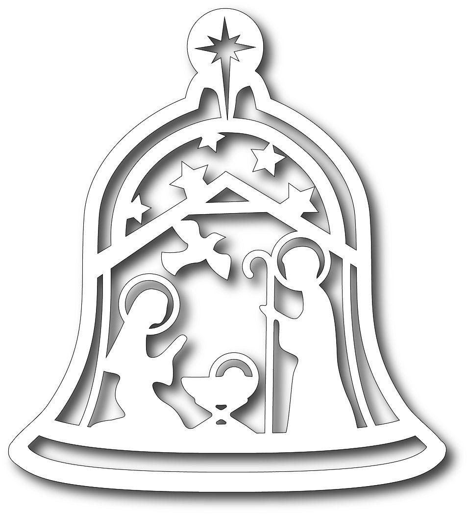Preorder tutti designs cutting die nativity bell