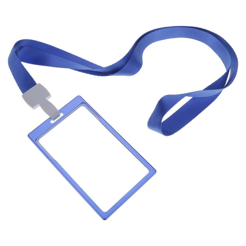 Details About Metal Transparent Window Credit Card Holder Id Badge