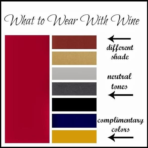 What To Wear With Wine Maroon Fucsia Color Color Combinations For Clothes Complimentary Colors What To Wear