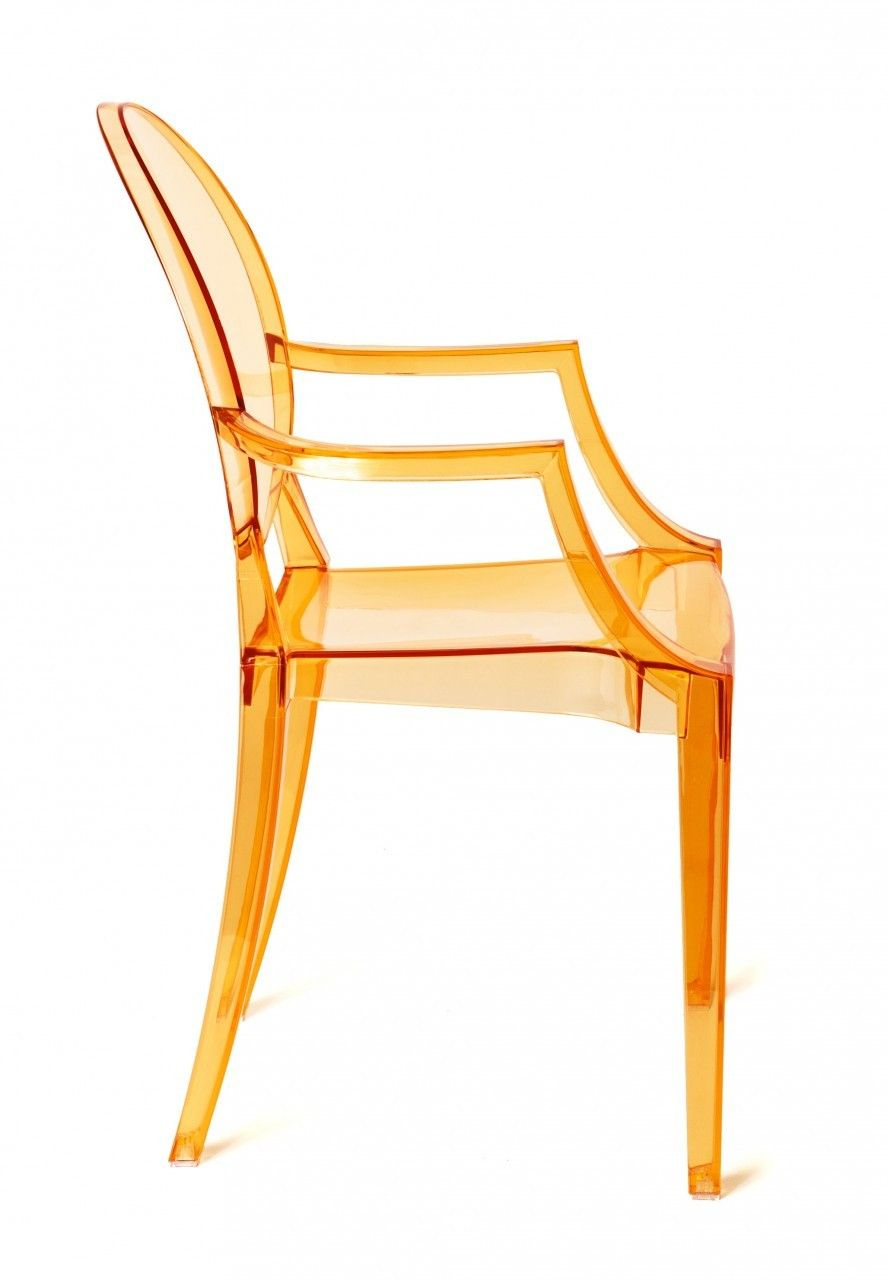 Great Milano Republic Furniture Pty Ltd   Replica Louis Ghost Chair   Transparent  Orange, $129.00 (